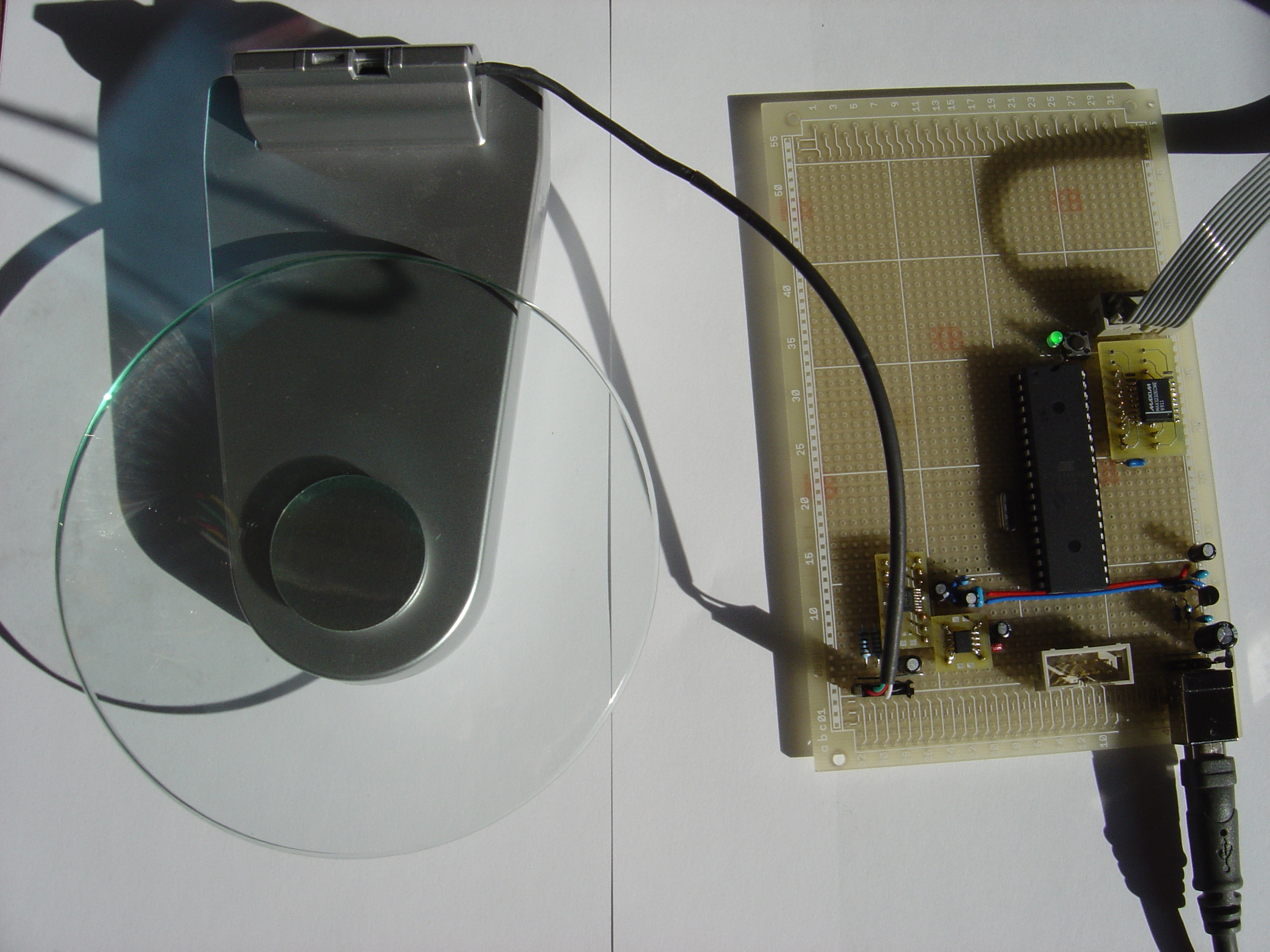 Category Measurement Uwes Tinkerblog Load Cell Circuit Foto Of The Prototype A From 5kg Kitchen Scale On Left
